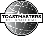 150w Grayscale Toastmasters Logo PNG